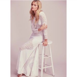 NEW Free People Carolyn Mendell white gown